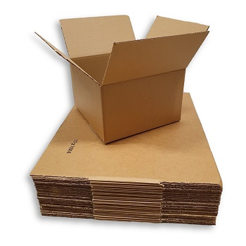 10x10x6 Corrugated Packing Shipping Moving Boxes Mailing Cartons 25 New